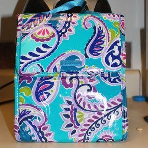 NWT Vera Bradley Lunch Bag Wakiki Paisley Sack